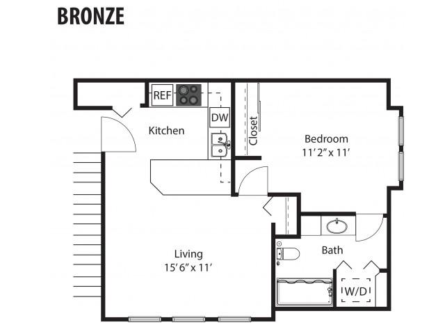 Bronze - 1/1 - 569 SF