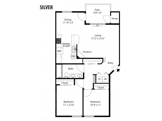 Silver - 2/1 - 1,006 SF