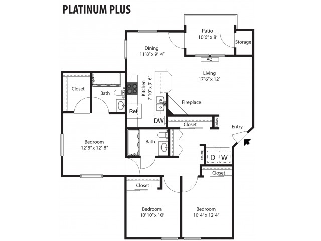 Platinum Plus - 3/2 - 1,293 SF