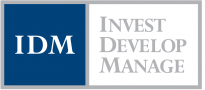 invest develop manage logo