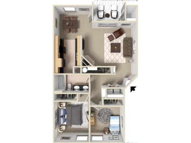 Silver 3D Floor Plan