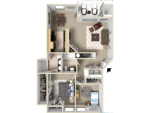 Gold C 3D Floor Plan
