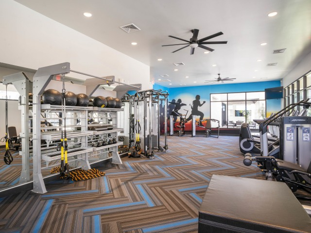 Apartment with fitness center