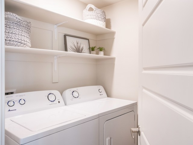 In-unit laundry apartments