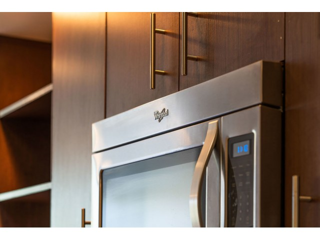 Apartments with stainless steel appliances