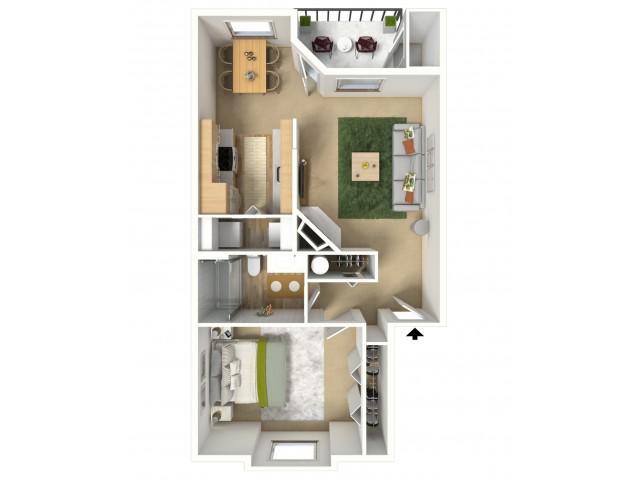 Copper 3D Furnished Floor Plan