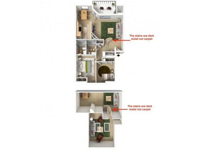 Platinum 3D furnished floor plan
