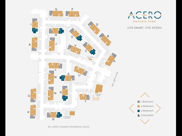 Acero Haagen Park site map