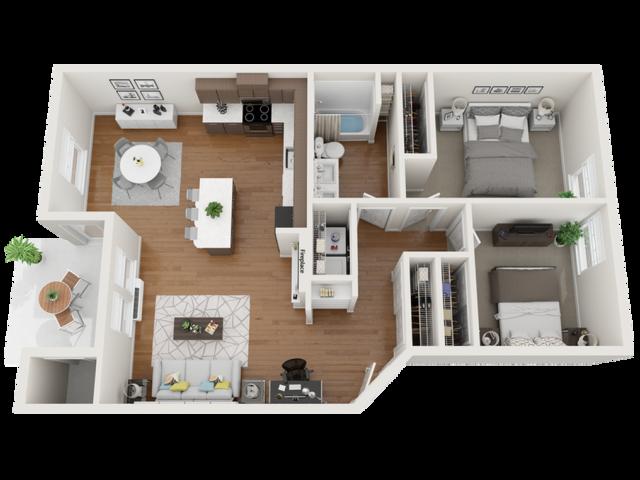 furnished indigo floor plans