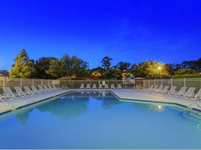 Image of Sparkling Swimming Pool with Sundeck for Abbotts Run