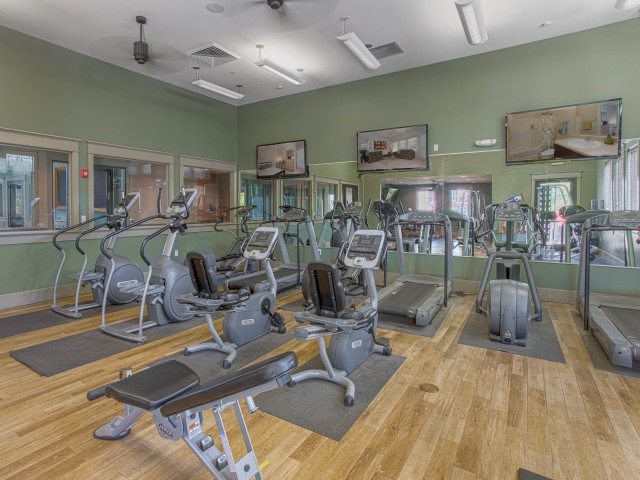 Image of 24-Hour Fitness Center w/Cardio Equipment & Free Weights for Campus Quarters