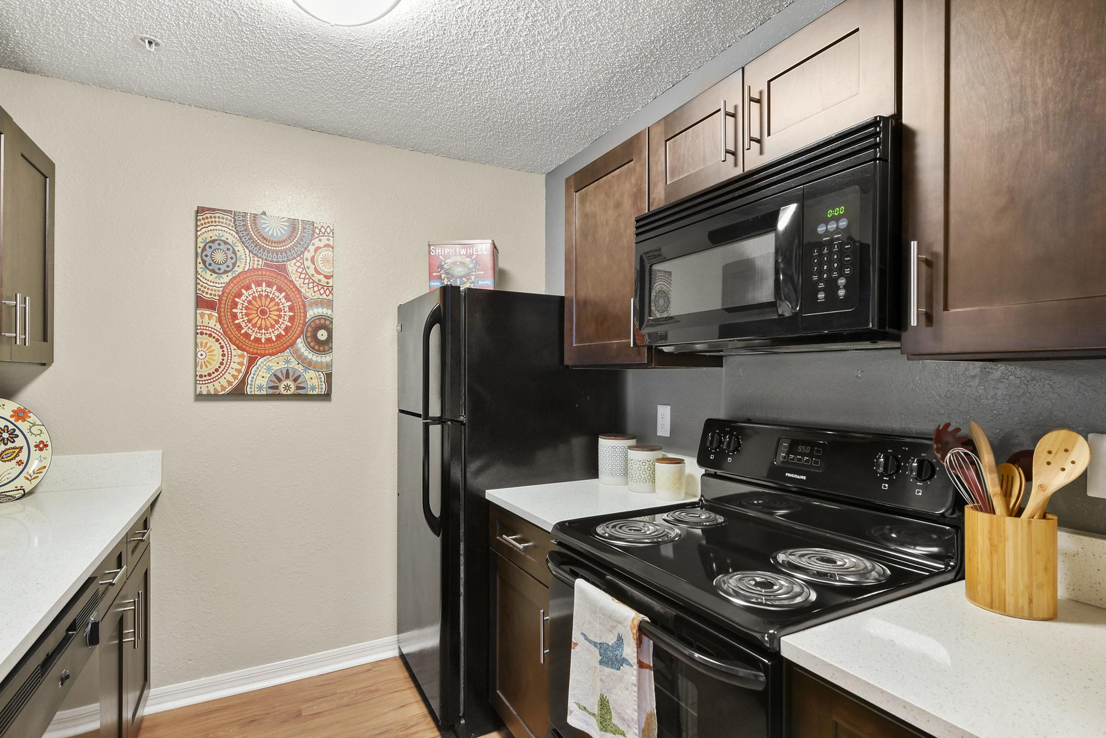 Image of Black Kitchen Appliances for Kernan Oaks