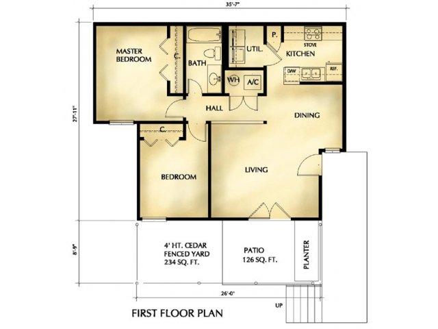 2D Floor Plan image 1 for the Floorplan C Floor Plan of Property 1500 Lake  Shore. FLOOR PLAN ORGANIZER