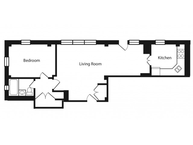 PHF -  1 Bedroom with wrap around terrace