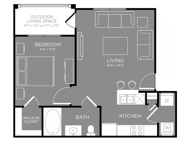 Floor Plan 1 | Apartments In Conroe TX | The Grand Estates in the Forest