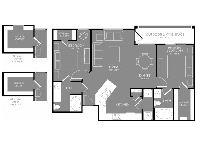 Floor Plan 10 | Apartments For Rent In Conroe Texas | The Grand Estates in the Forest