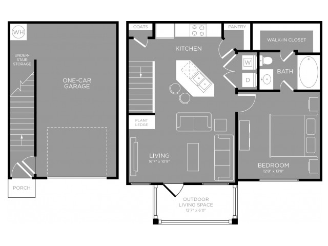 3D Floor Plan 2 | Little Elm Luxury Apartments | The Mansions 3Eighty