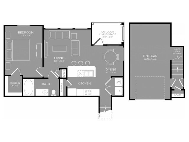 3D Floor Plan 4 | Apartments In Little Elm TX | The Mansions 3Eighty