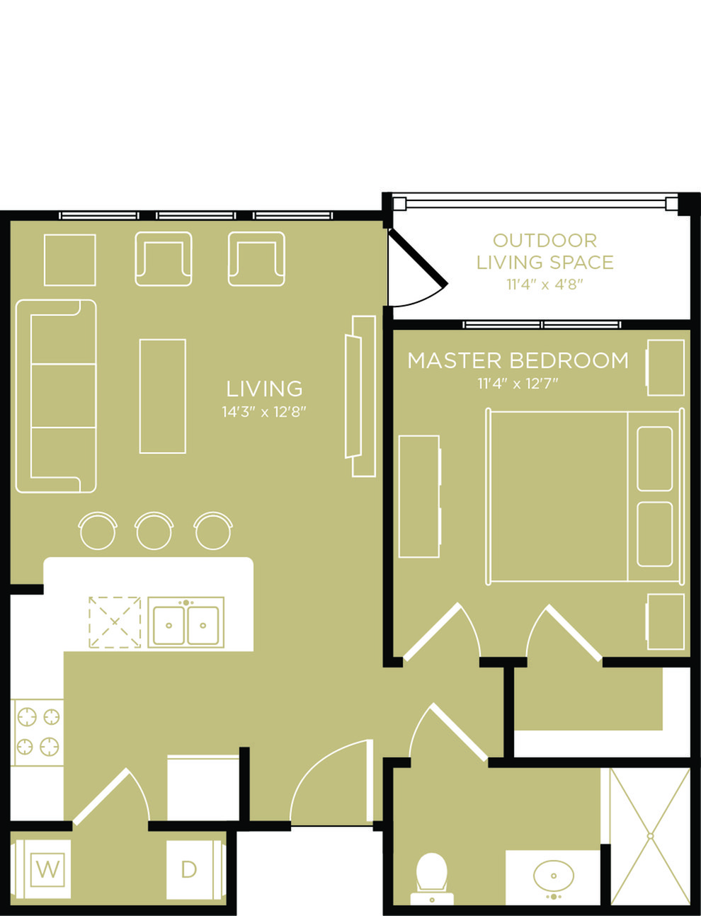 Floor Plan 3 | Apartments In Wylie Texas | The Mansions at Wylie