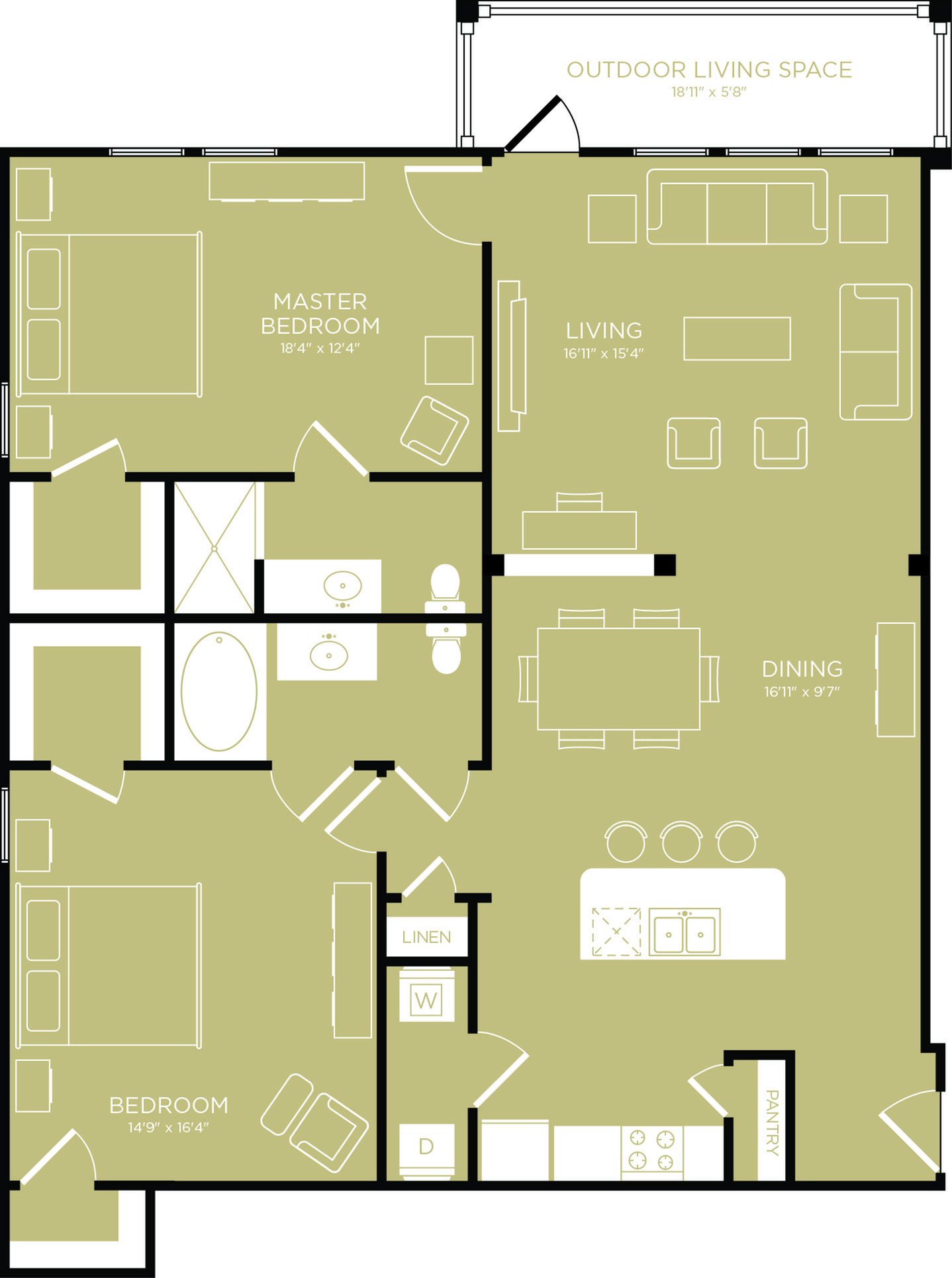 Floor Plan 13 | Apartments Wylie TX | The Mansions at Wylie