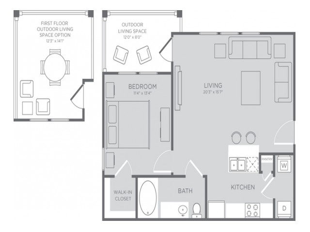Floor Plan 2 | Apartments In Clear Lake Texas | The Towers of Seabrook