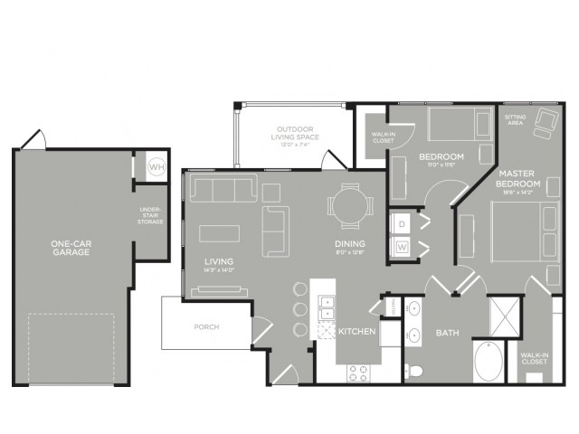 3D Floor Plan 8 | Apartment For Rent In Austin TX | The Mansions at Lakeway