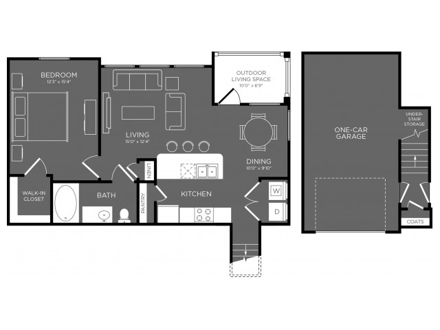 Floor Plan 9 | Pflugerville Tx Apartments | The Mansions at Stone Hill