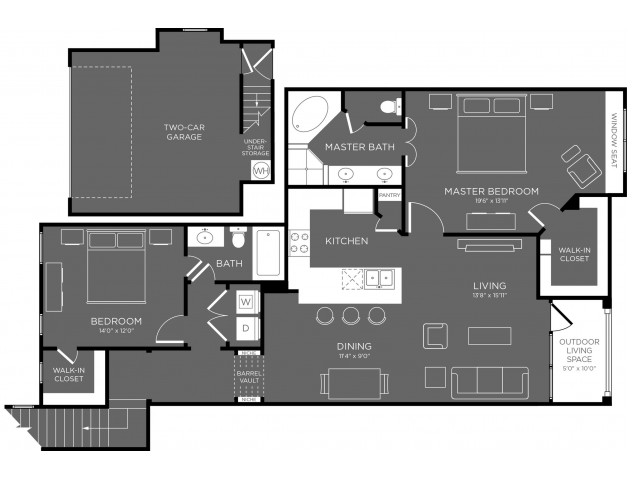 Floor Plan 17 | Pflugerville Apartments For Rent | The Mansions at Stone Hill