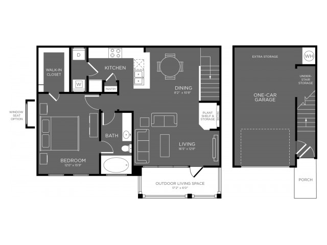 Floor Plan 11 | Pflugerville Tx Apartments | The Mansions at Stone Hill