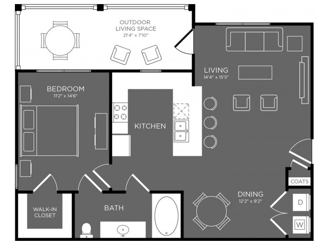 Floor Plan 3 | Apartments For Rent Pflugerville Tx | The Mansions at Stone Hill