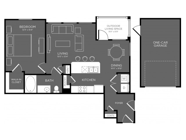 Floor Plan 7 | Apartments In Pflugerville TX | The Mansions at Stone Hill