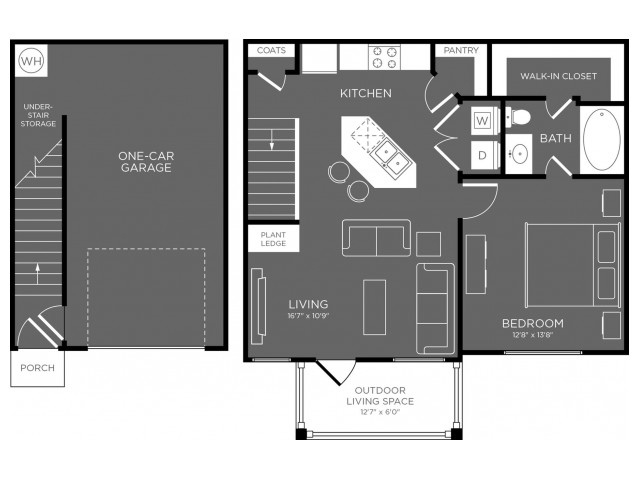 Floor Plan 1 | Pflugerville Apartments For Rent | The Mansions at Stone Hill