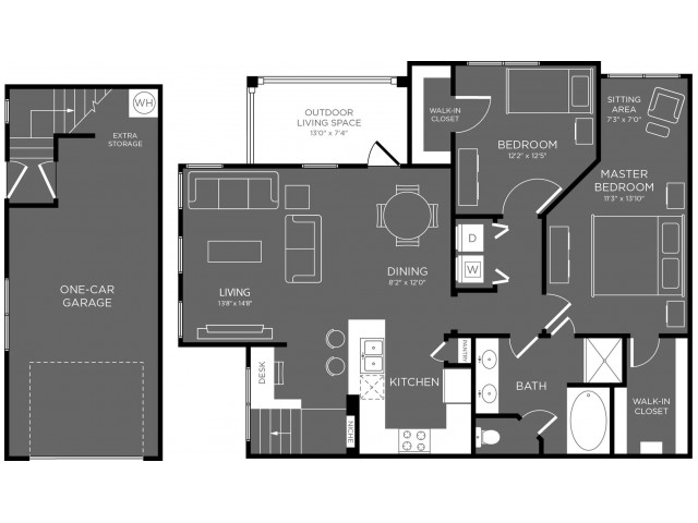 Floor Plan 13 | Pflugerville Apartments For Rent | The Mansions at Stone Hill