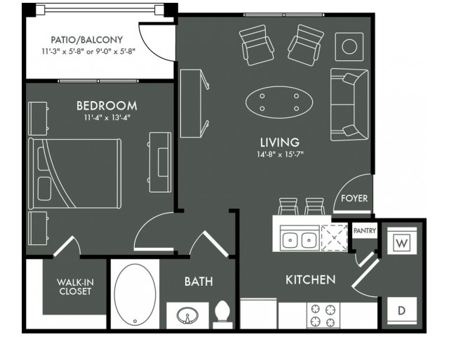 Floor Plan 1 | Magnolia Texas Apartments | The Grand Estates Woodland