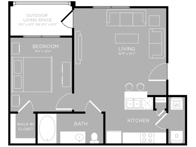 Floor Plan 1 | Apartments In Austin | The Mansions at Travesia