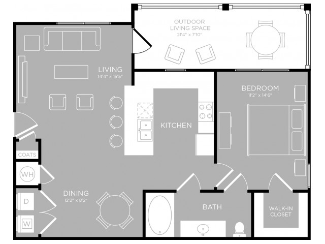 Floor Plan 3 | Apartments Austin TX | The Mansions at Travesia