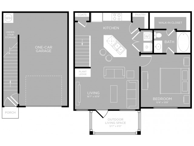 Floor Plan 5 | Austin Texas Apartments | The Mansions at Travesia