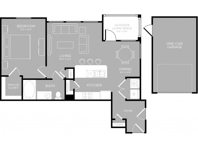 Floor Plan 9 | Austin Apartments For Rent | The Mansions at Travesia