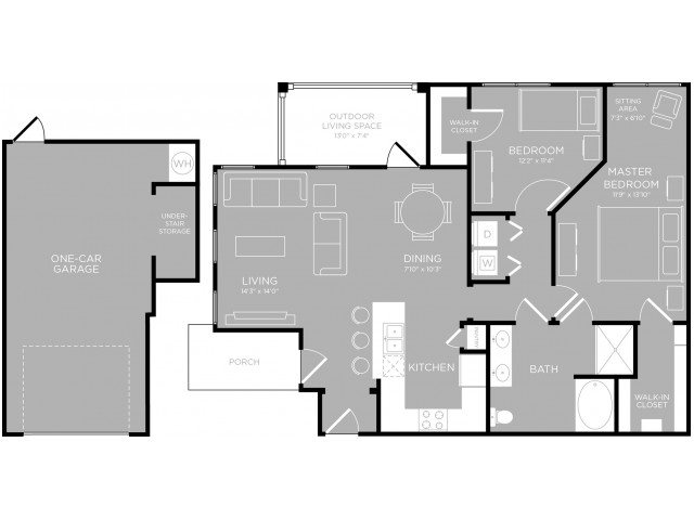 Floor Plan 15 | Austin Texas Apartments | The Mansions at Travesia