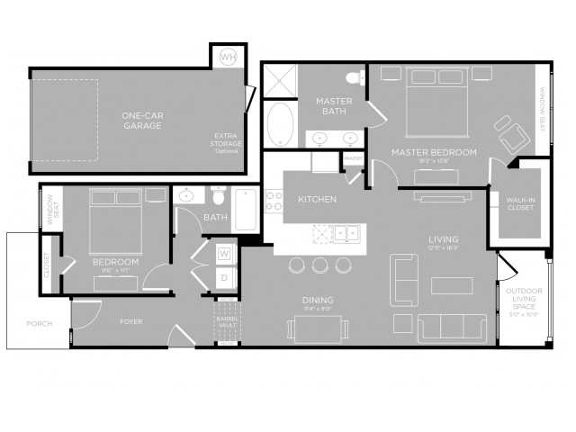 Floor Plan 19 | Austin Apartments For Rent | The Mansions at Travesia