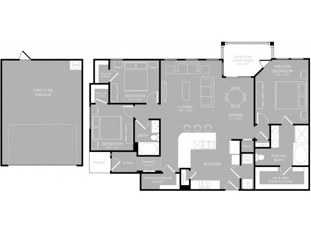 Floor Plan 23 | Apartments Austin TX | The Mansions at Travesia