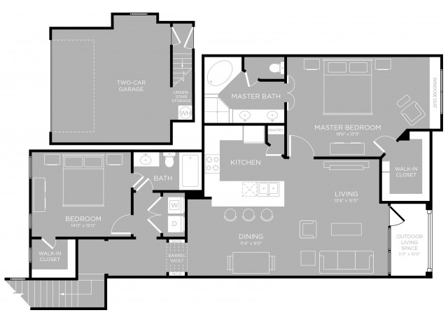 Floor Plan 21 | Apartments In Austin | The Mansions at Travesia
