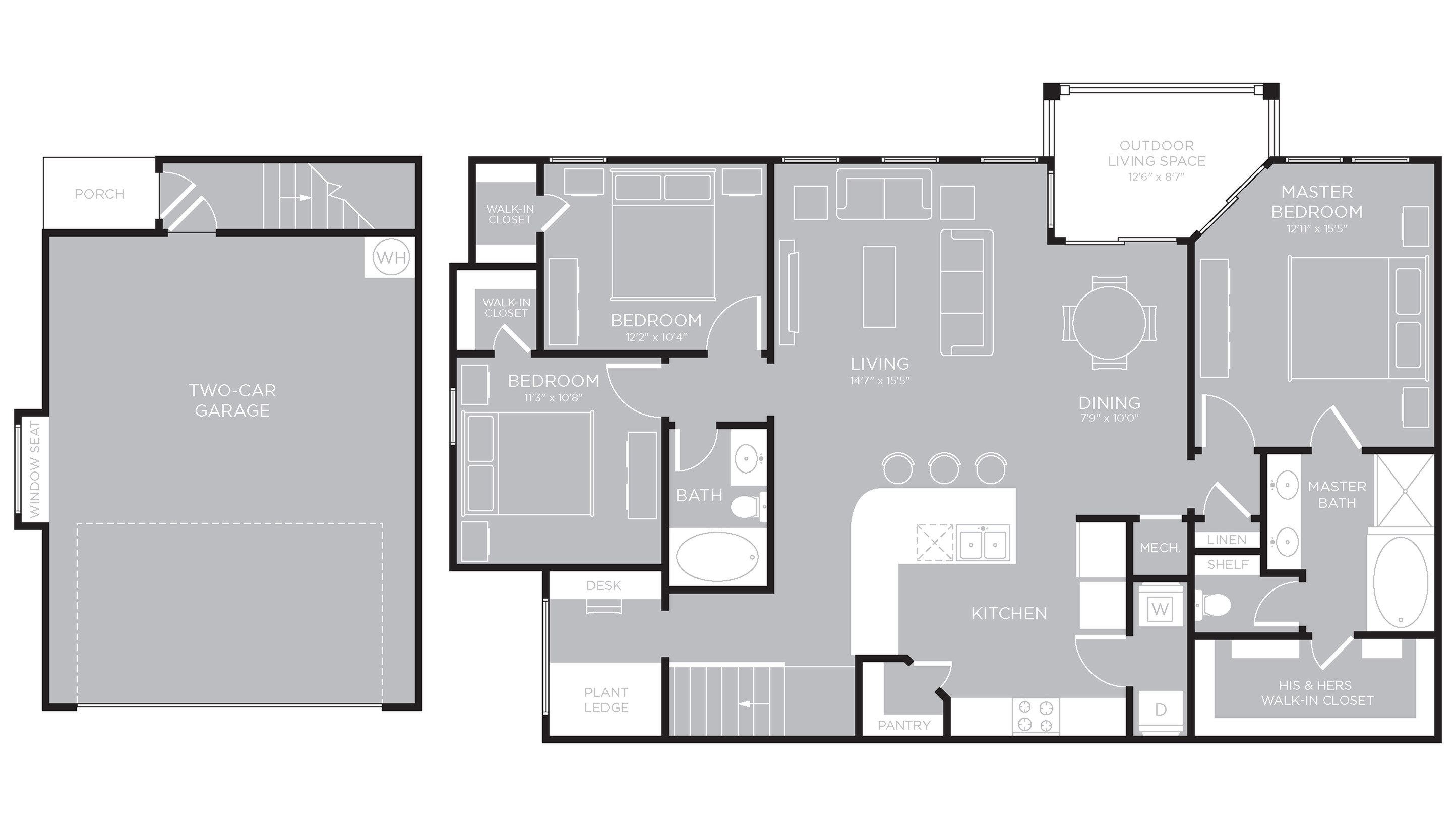 Floor Plan 25 | Austin Texas Apartments | The Mansions at Travesia