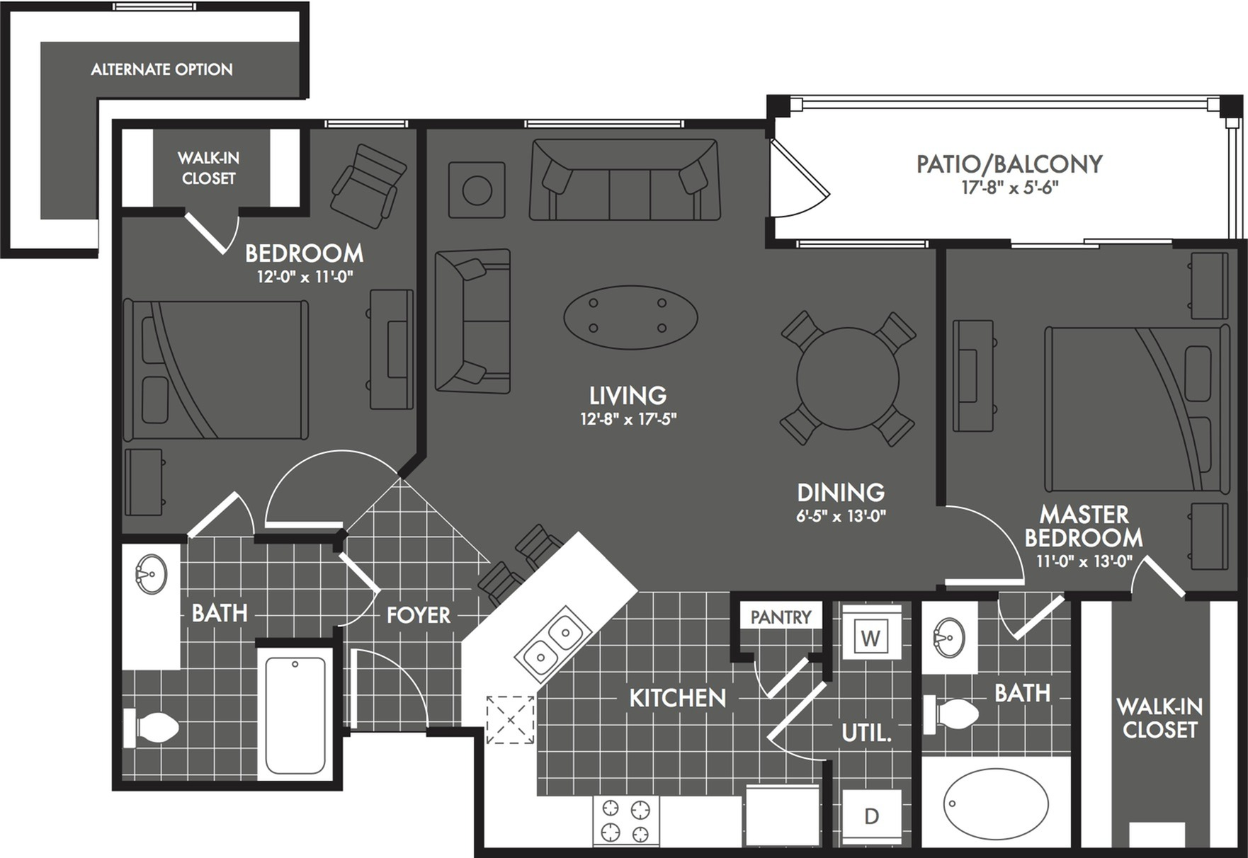 2 Bedroom Floor Plan | Apartments In San Antonio | The Estates at Briggs Ranch