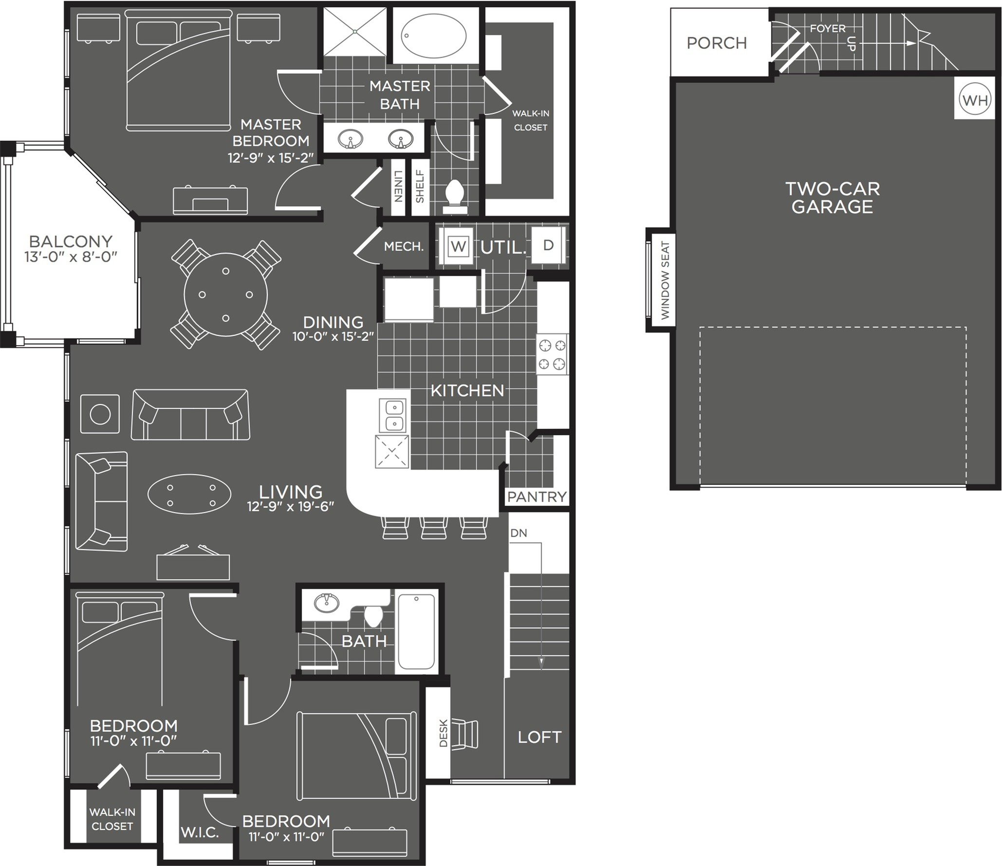 3 Bdrm Floor Plan | Luxury Apartments In San Antonio Texas | The Mansions at Briggs Ranch