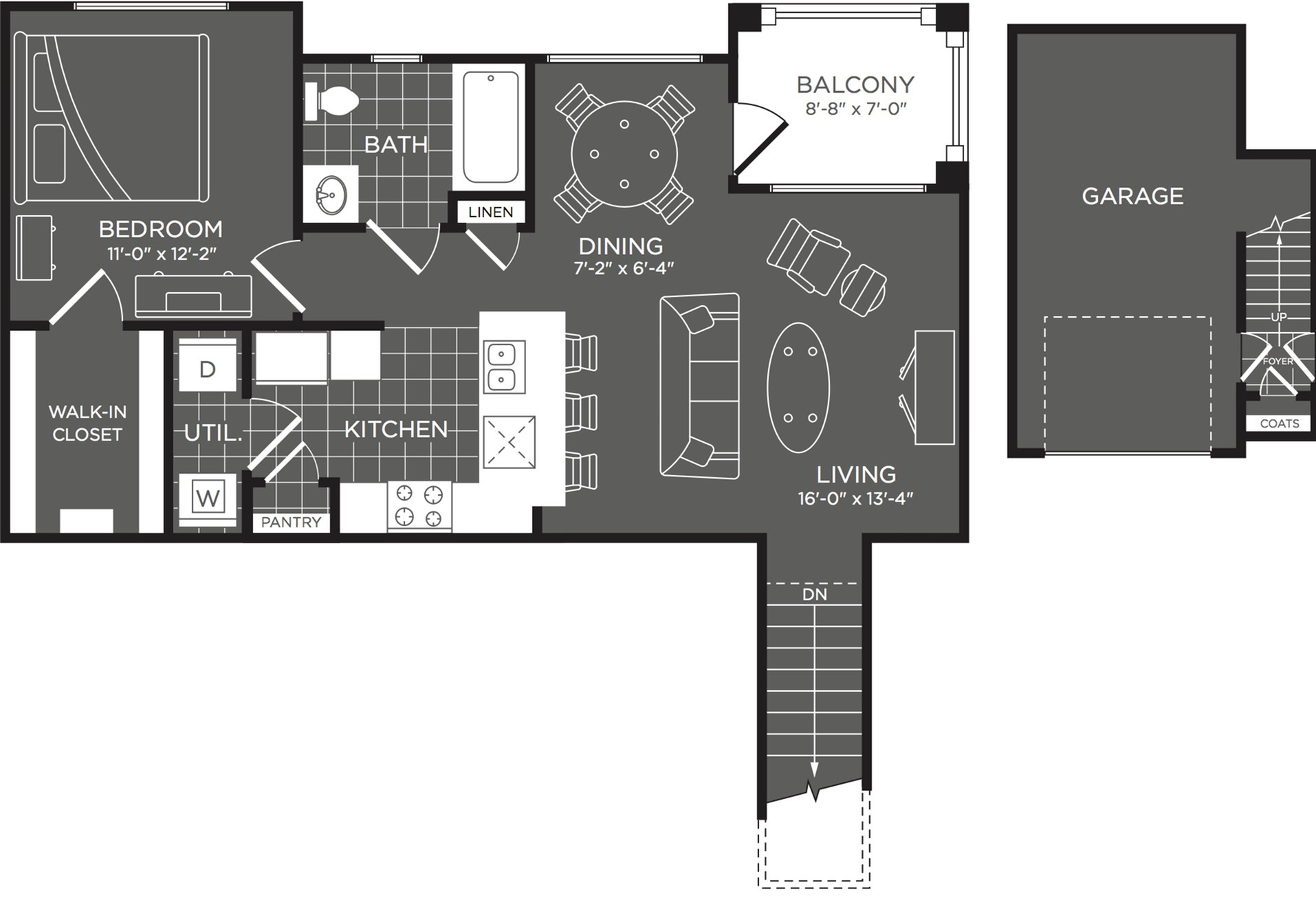 Floor Plan 1 | Apartment In San Antonio | The Mansions at Briggs Ranch