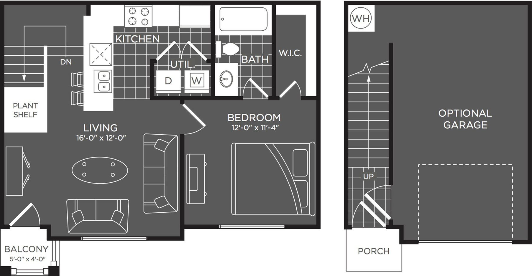 1 Bedroom Floor Plan | Luxury Apartments In San Antonio | The Mansions at Briggs Ranch