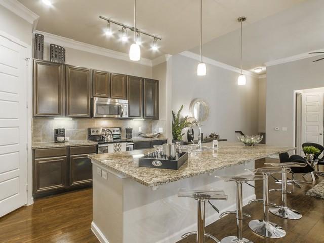 Image of Real Porcelain Tile Backsplashes in Kitchen for The Mansions Woodland