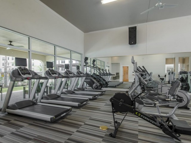 Image of 24-Hour Fully Equipped High-Tech Fitness Center with Cardio Theater, Free Weights & Training Stations for The Towers Seabrook