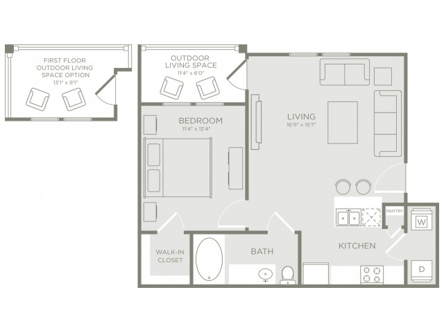 Floor Plan 1 | Apartments Conroe | The Towers Woodland